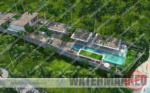 Brand-new beachfront villa at Laem Sor