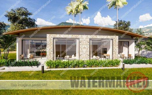 2 bedroom luxury bungalow design