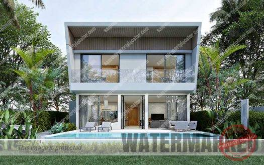 Modern 3 bedroom pool villas for sale Koh Samui
