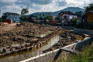 real estate and the canal works at Bophut Koh Samui
