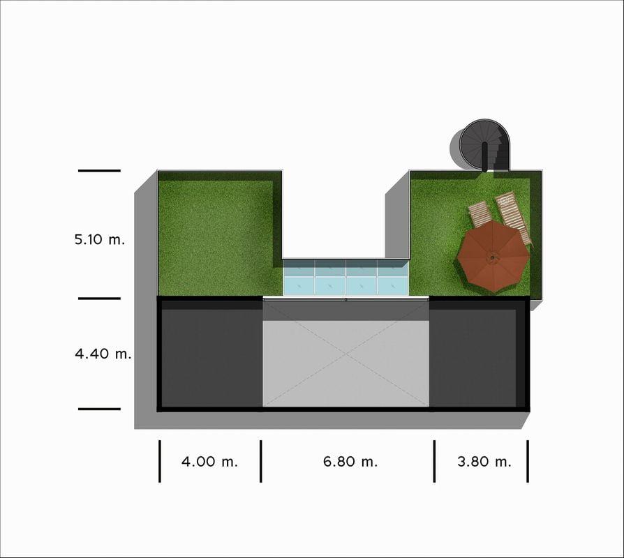 Roof Deck of Hidden Lily 2 bed design
