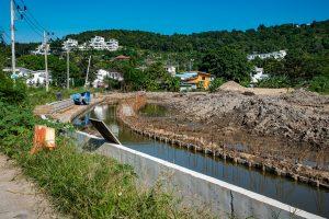 Canal water works in Bophut Koh Samui